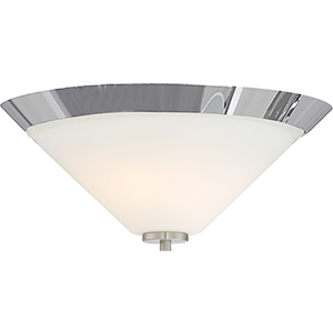 Nome Brushed Nickel Two-Light Flush Mount