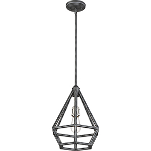 Orin Iron Black with Brushed Nickel Accents One-Light Pendant