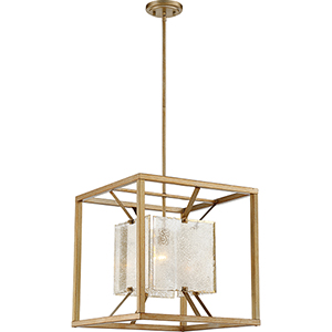 Stanza Antique Gold One-Light Large Pendant