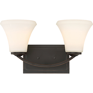 Fawn Mahogany Bronze Two-Light Vanity