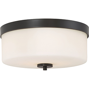 Denver Mahogany Bronze Two-Light Flush Mount