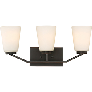 Nome Mahogany Bronze Three-Light Vanity