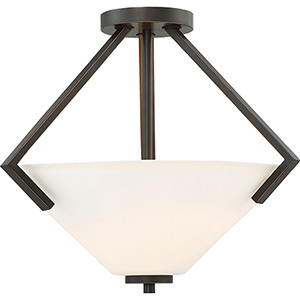 Nome Mahogany Bronze Two-Light Semi-Flush Mount