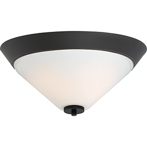 Nome Mahogany Bronze Two-Light Flush Mount