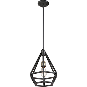 Orin Aged Bronze With Brass Accents One-Light Pendant
