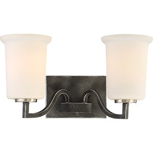 Chester Iron Black Two-Light Vanity
