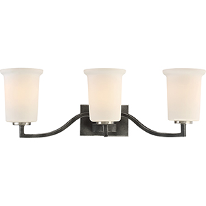 Chester Iron Black Three-Light Vanity
