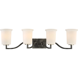 Chester Iron Black Four-Light Vanity