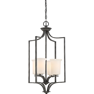 Chester Iron Black Four-Light Pendant