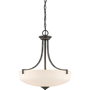 Chester Iron Black Three-Light Pendant