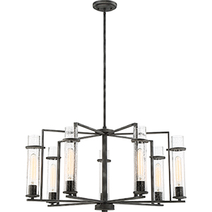Donzi Iron Black Seven-Light Chandelier