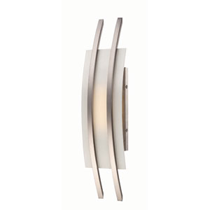 Trax Brushed Nickel One-Light LED Wall Sconce w/ Frosted Glass