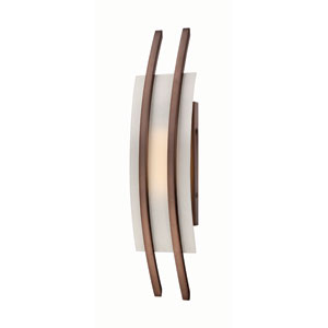 Trax Hazel Bronze One-Light LED Wall Sconce w/ Frosted Glass