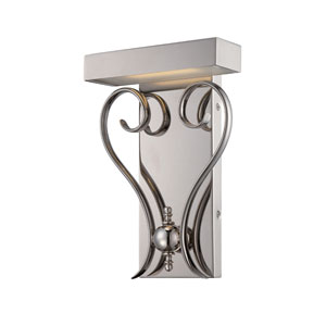 Coco Polished Nickel 11.75-Inch One Light LED Vanity Fixture