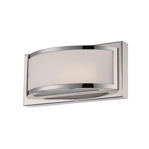 Mercer Polished Nickel One Light LED Vanity Fixture with Frosted Glass