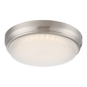 Dot Brushed Nickel LED Flush Mount with Frosted Glass