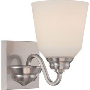 Calvin Brushed Nickel One-Light LED Bath Sconce