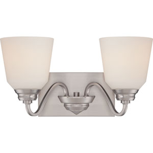 Calvin Brushed Nickel Two-Light LED Vanity