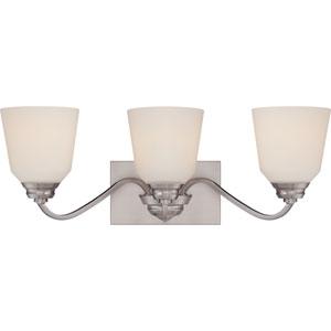 Calvin Brushed Nickel Three-Light LED Vanity