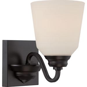 Calvin Mahogany Bronze One-Light LED Bath Sconce