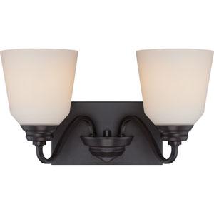 Calvin Mahogany Bronze Two-Light LED Vanity