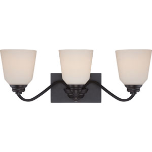 Calvin Mahogany Bronze Three-Light LED Vanity