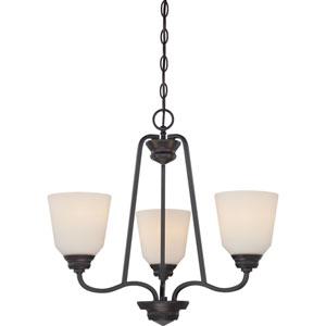 Calvin Mahogany Bronze Three-Light LED Chandelier