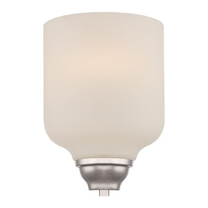 Kirk Polished Nickel LED Wall Sconce with Etched Opal Glass