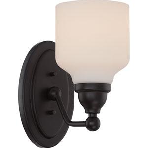Kirk Mahogany Bronze One-Light LED Bath Sconce
