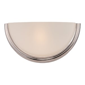 Dylan Polished Nickel LED Wall Sconce with Etched Opal Glass