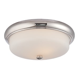 Dylan Polished Nickel LED Flush Mount with Etched Opal Glass