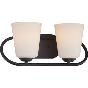 Dylan Mahogany Bronze Two-Light LED Vanity