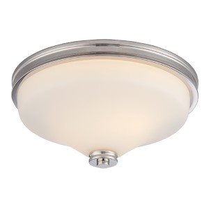 Cody Polished Nickel LED Flush Mount with Satin White Glass