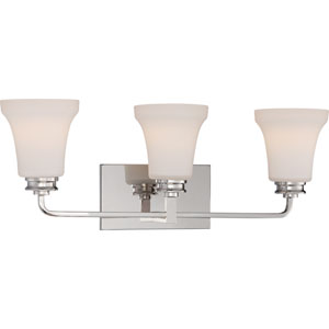 Cody Polished Nickel Three-Light LED Vanity