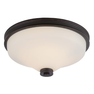 Cody Mahogany Bronze LED Flush Mount with Satin White Glass