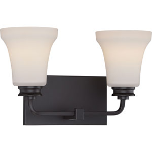 Cody Mahogany Bronze Two-Light LED Vanity