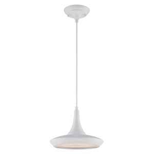 Fantom White LED Dome Pendant with Frosted Glass