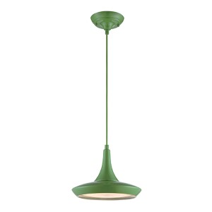 Fantom Green LED Dome Pendant with Frosted Glass