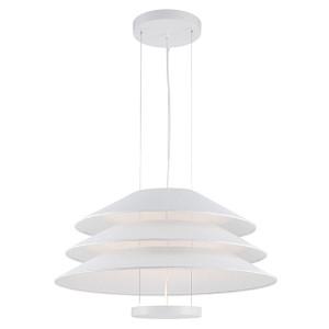 Evol Glacier White LED Dome Pendant