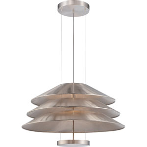 Evol Satin Steel One-Light LED Pendant