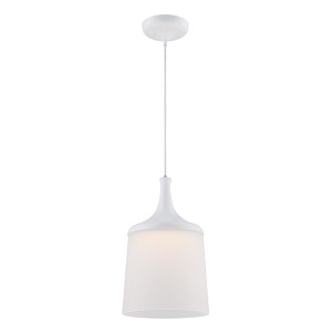 Denny Glacier White LED Dome Pendant with Frosted Glass