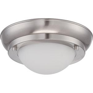 Poke Brushed Nickel 6.5-Inch One-Light LED Flush Mount