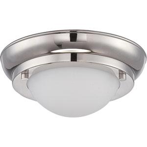 Poke Polished Nickel 6.5-Inch One-Light LED Flush Mount