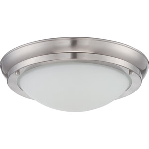 Poke Brushed Nickel 12-Inch One-Light LED Flush Mount