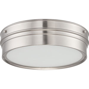 Ben Brushed Nickel One-Light LED Flush Mount