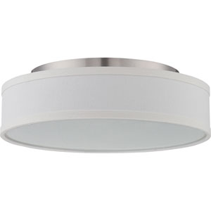 Heather Brushed Nickel One-Light LED Semi Flush Mount