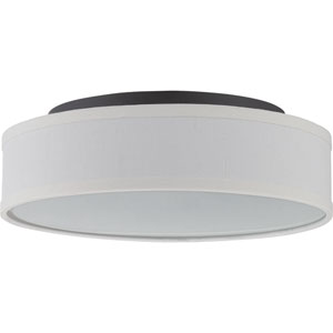 Heather Aged Bronze One-Light LED Semi Flush Mount