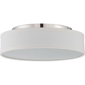 Heather Polished Nickel One-Light LED Semi Flush Mount