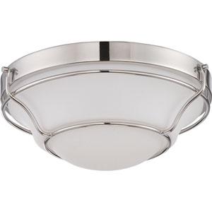 Baker Polished Nickel One-Light LED Flush Mount