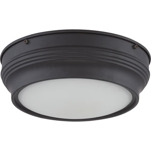 Lark Aged Bronze One-Light LED Flush Mount